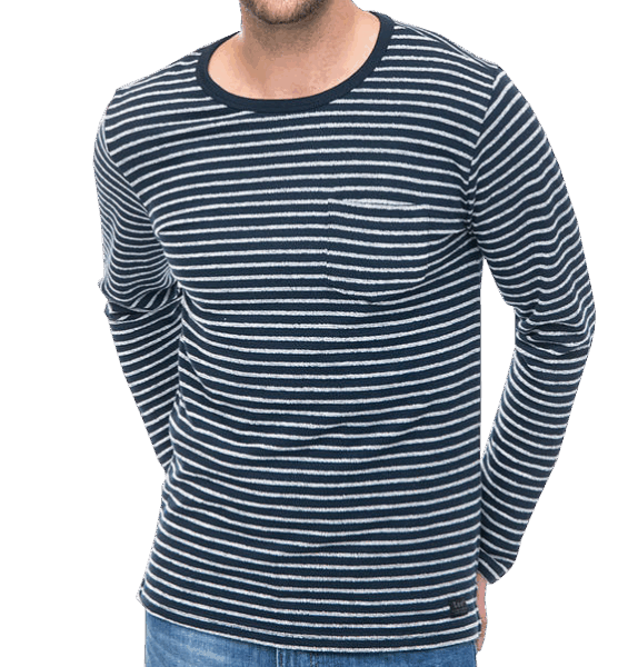 LEE Stripe PKT SWS Navy Drop