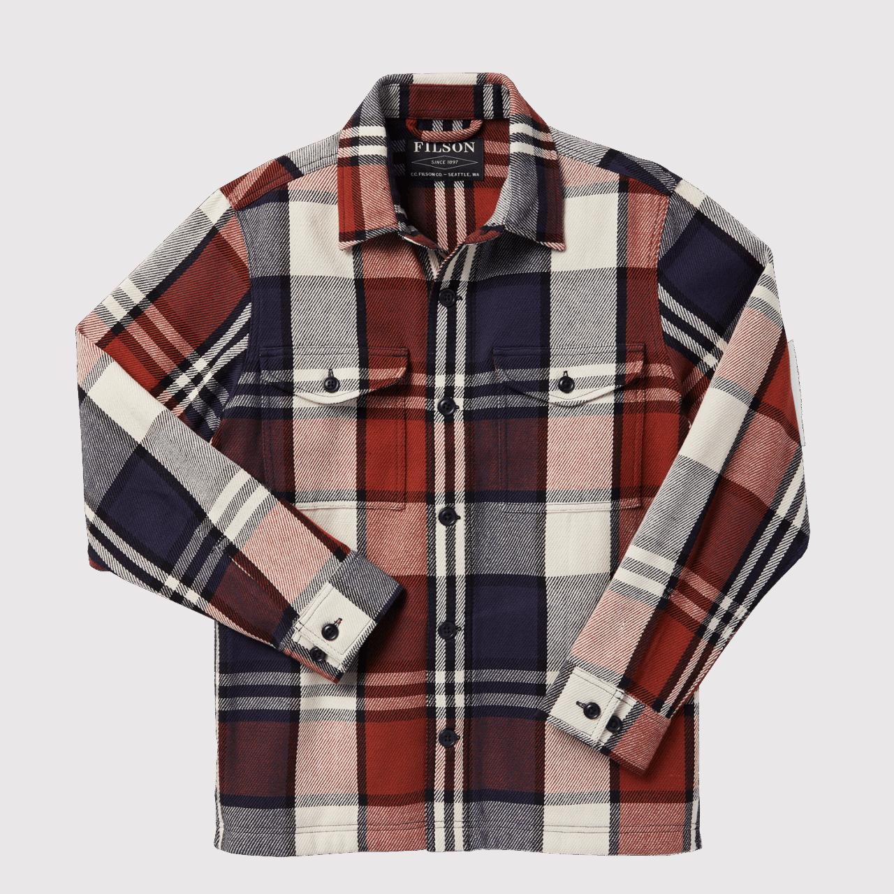 Filson Deer Island Jac-Shirt - Rust/Navy/Cream Check