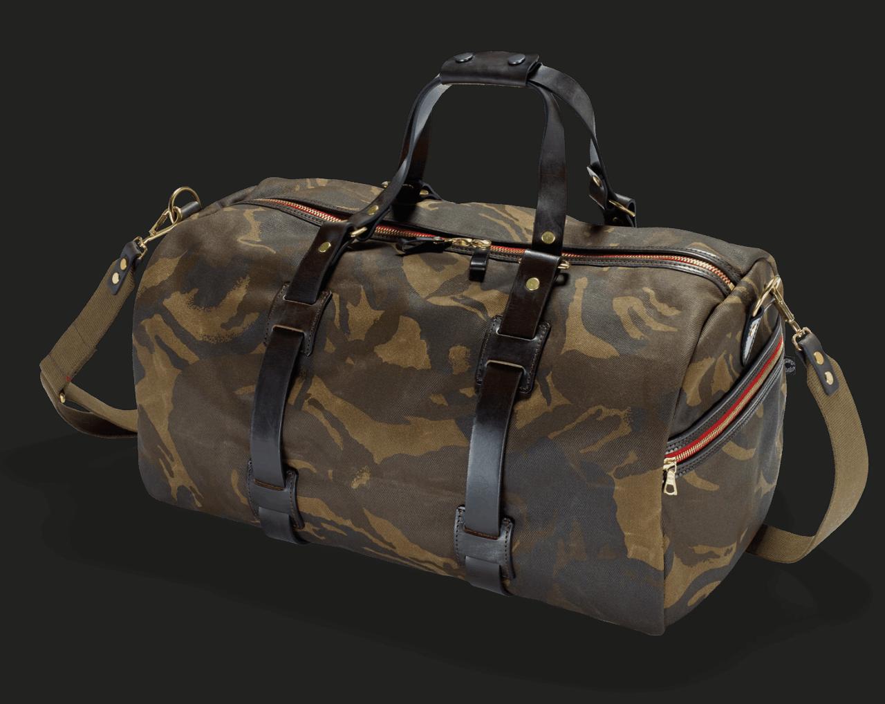 Croots Waxed Camo Duffle Bag med.