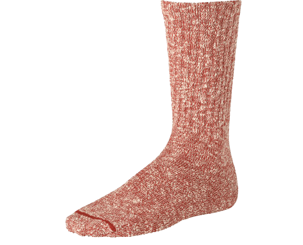 Red Wing Cotton Ragg Sock - rust/white