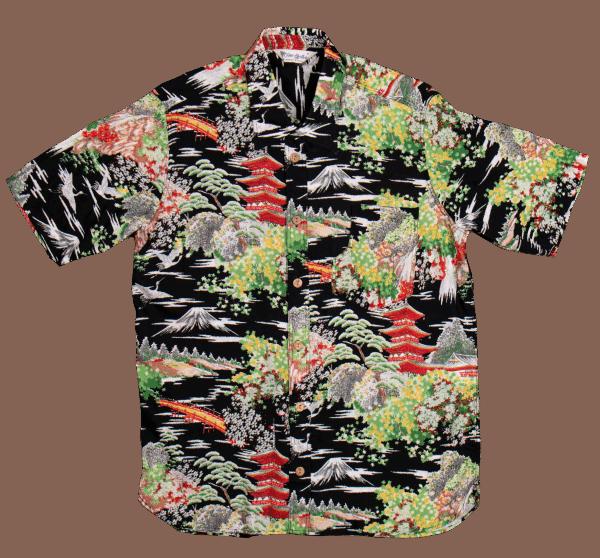 Pike Brothes Hawaii Shirt - Miyamato black