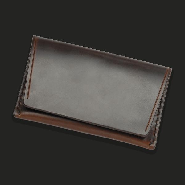 Coronado Leather HH4 BRN Flap Wallet, brown