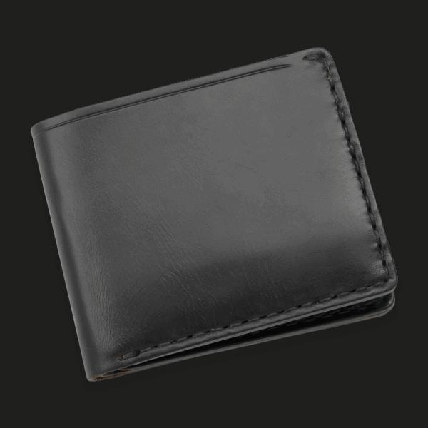 Coronado Leather Horsehide 6 Card Wallet Black