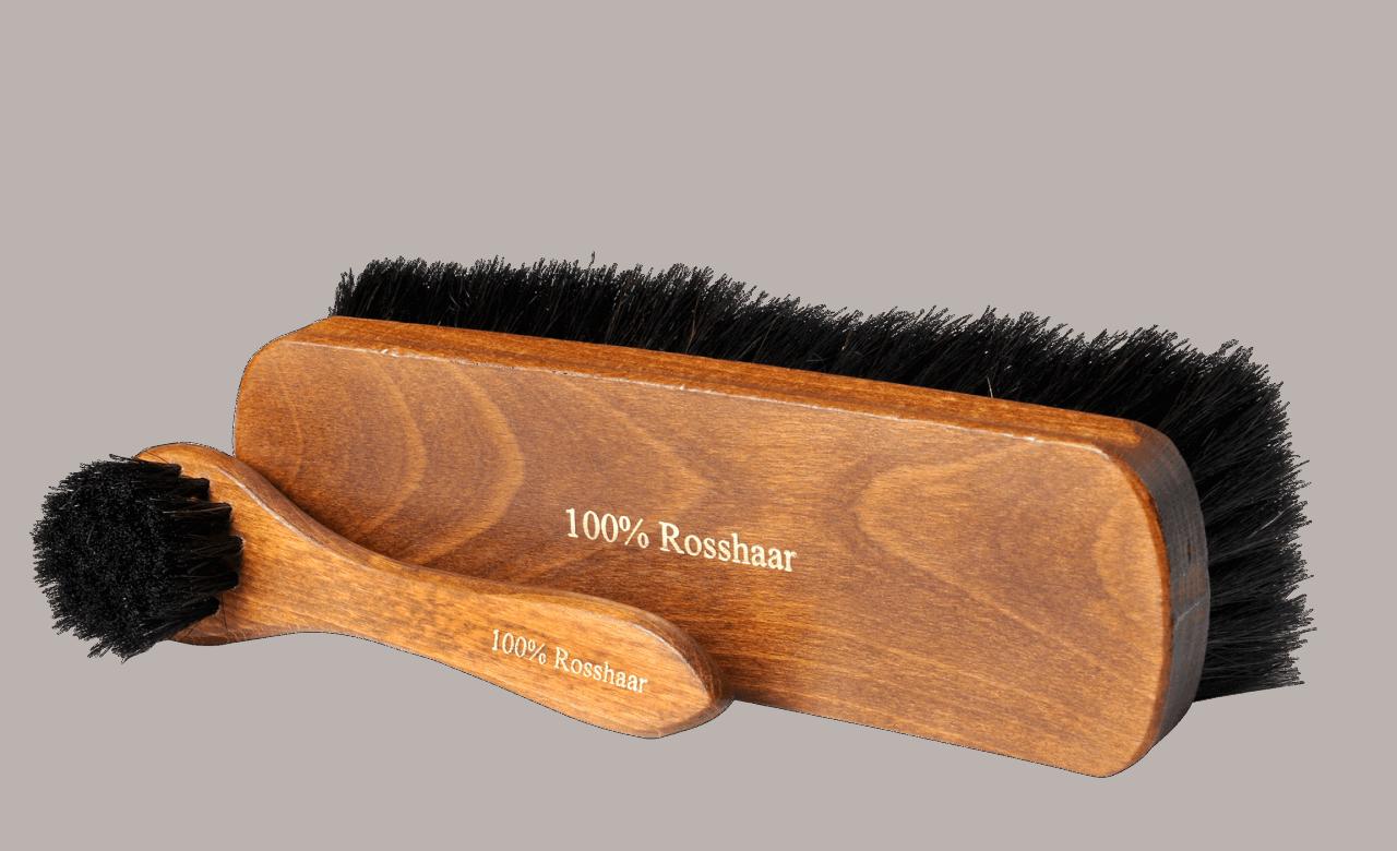 Horsehair brush set dark