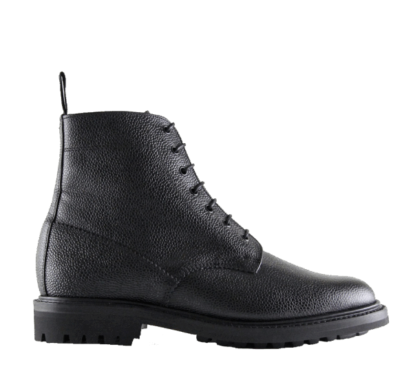 Sanders Kelso Grain Plain Derby Boot - black