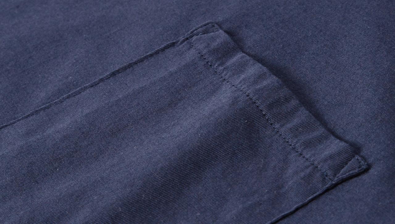 Merz b. Schwanen Pocket Polo Shirt - Deep Blue