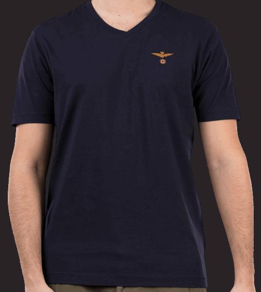 Aeronautica Militare V-Neck Shirt - navy