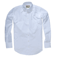GORDON & FERGUSON CLASSIC OXFORD SHIRT white