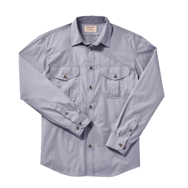 Filson Feather Cloth Shirt - smoke blue
