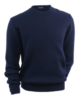 Saint James Cancale Pullover - blue melange