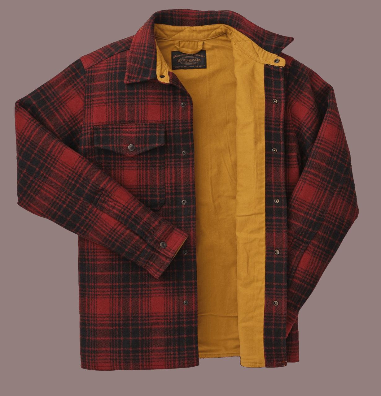 Filson Mackinaw Jac Shirt - oxblood/black