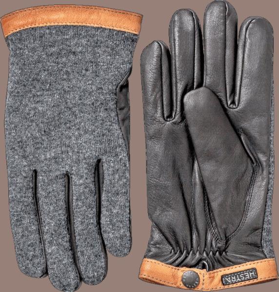 Hestra Deerskin Wool Trikot - Charcoal
