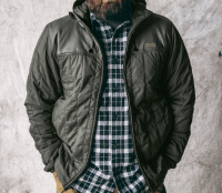 Filson Ultra Light Hooded Jacke - olivegray