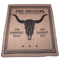 Pike Brothers 1969 Longhorn Blanket Black