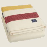 Faribault Revival Stripe Blanket Bone 125x180cm/ 50x72 inch