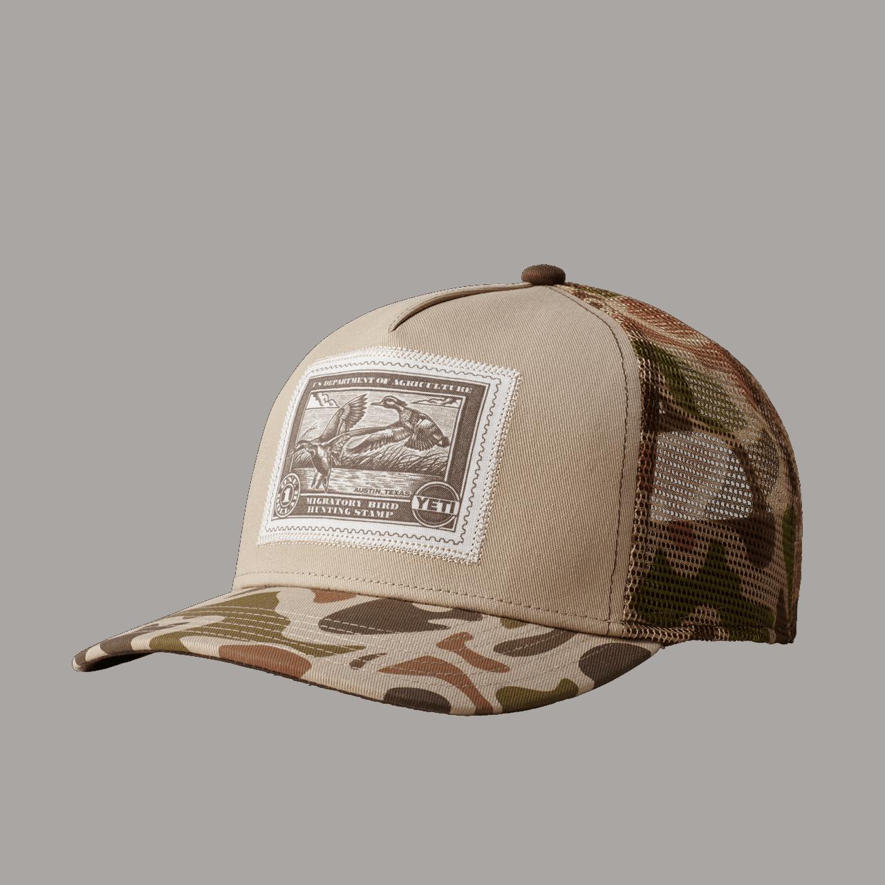 YETI Duck Stamp Trucker Hat - taupe/camo