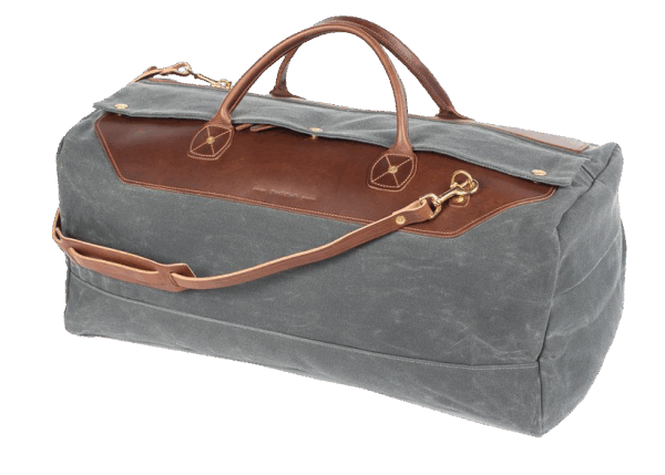 Wood & Faulk Grand Tourer Duffle-grey