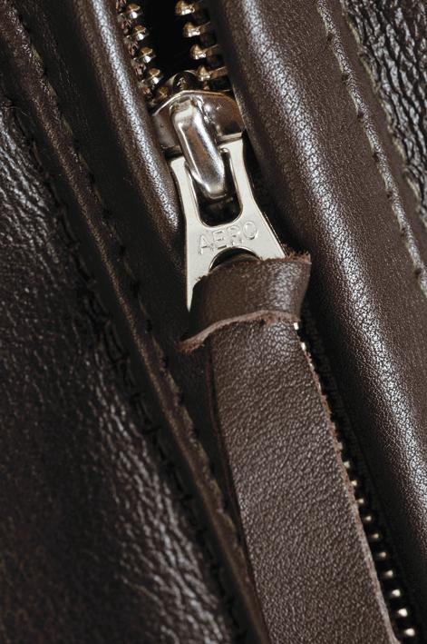 Aero Leather ANJ-4 seal brown