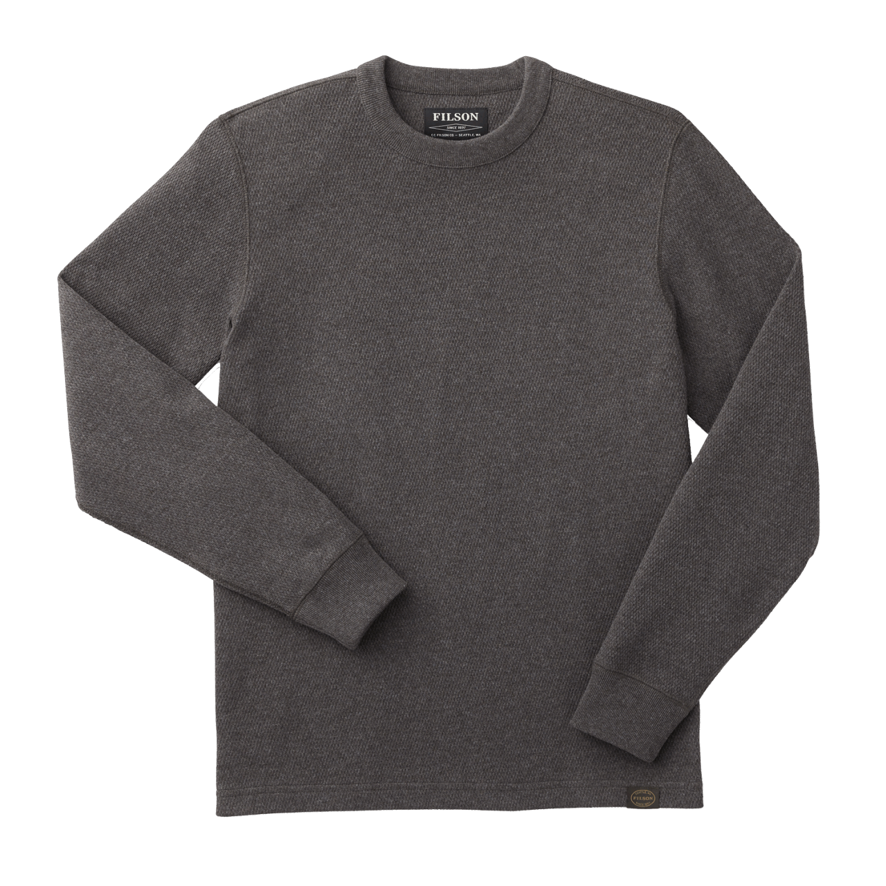 Filson Waffle Knit Thermal Crew Shirt - charcoal