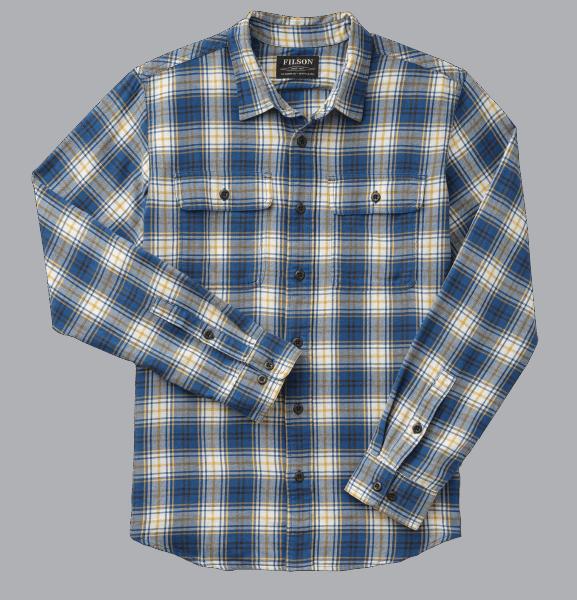 Filson Scout Shirt Shirt blue-gold-white