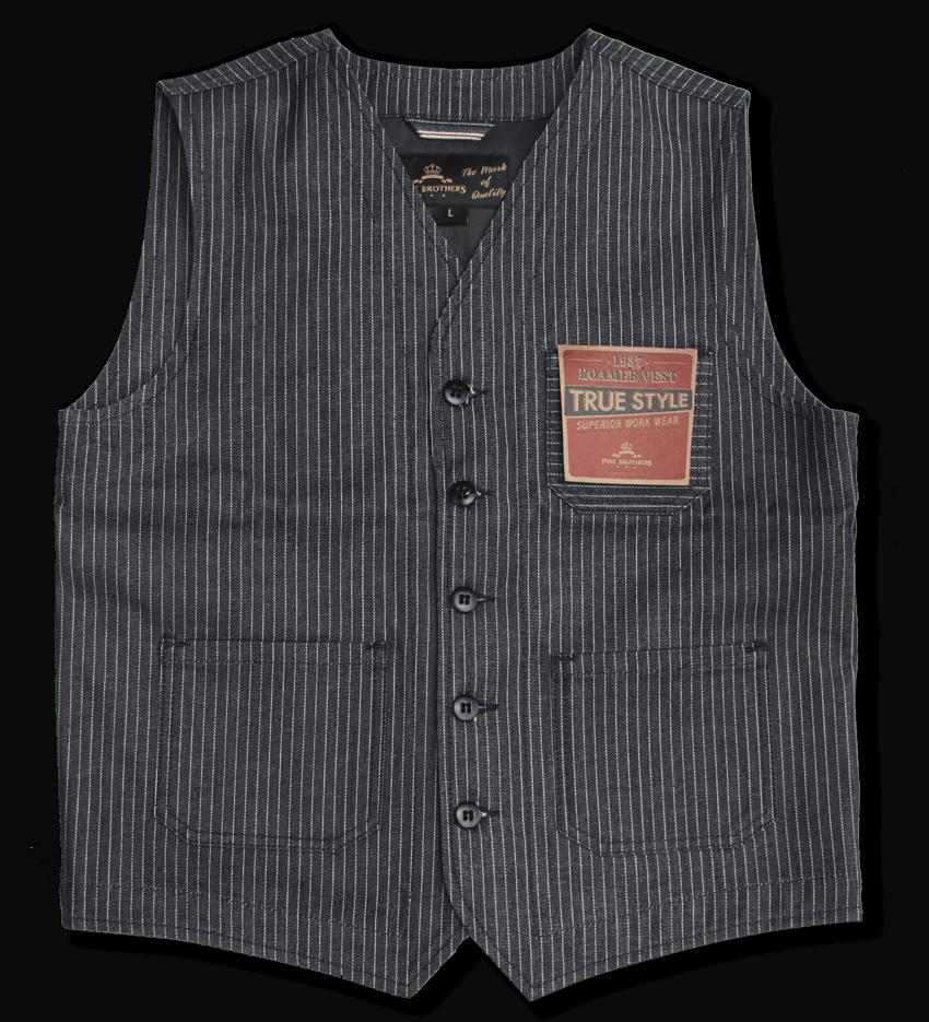 Pike Brothers 1937 Roamer Vest Blue Wabash