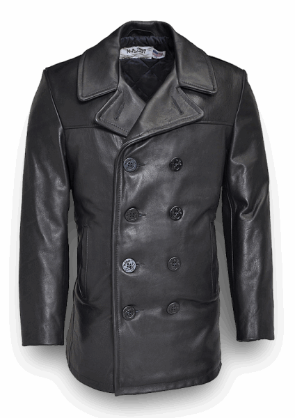Schott Naval Leather Pea Coat 740N