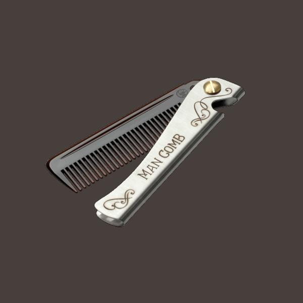 Daft Daft Man Comb - brown