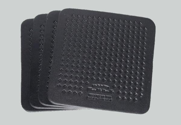 Wood & Faulk Coaster Set - black